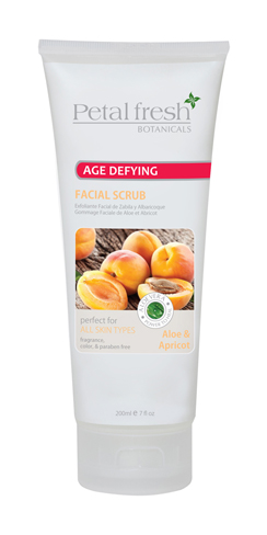 Petal Fresh Botanical Aloe & Apricot Facial Scrub 7 oz - 3 pack